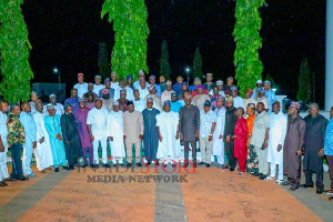 Alhaji Yahaya Bello and Speakers of State Houses of Assemblies from the 36 States of the federation