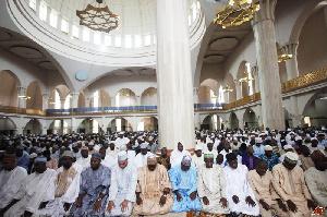Muslims gathered for Ramadan