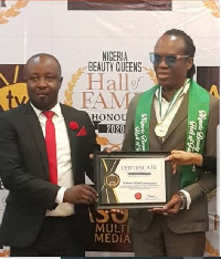 Amb Desmond Agboola(Nigeria Beauty Queens Hall of fame  Co-founder)& Andy