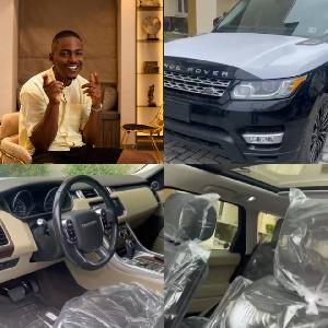 Timini Egbuson, Actor buys brand new Range Rover