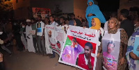 Protesters gather outside army headquarters in Sudan's capital Khartoum on May 11, 2021.