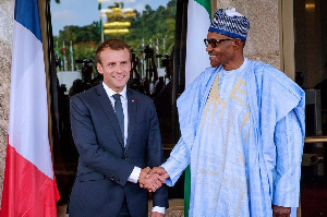 President Muhammadu Buhari and France President, Emmanuel Macron