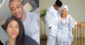 Nkechi Blessing, Actress with husband