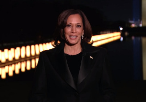 Kamala Harris delivered her first speech as vice president following the historic swearing-in