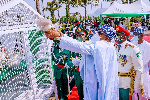 Armed Forces Remembrance Day: Reactions as pigeons Buhari released refuses to fly