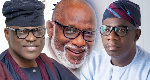 File photo: The electoral candidates; Akeredolu, Jegede and Ajayi
