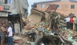File photo: The collapsed building