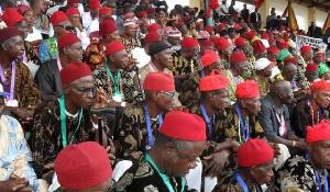 Men representing the Igbo tribe in Nigeria
