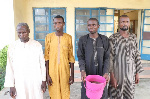 Human head contractors arrested with the human head in the bucket