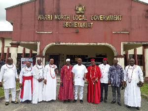 The traditional rulers with the monarch