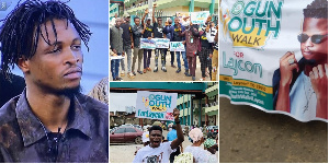 Youth in Ogun state march on the street for Laycon