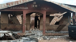 The burnt palace of Asigangan of Iganganland in Ibarapa North Local Council of Oyo State
