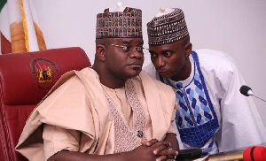 Kingsley Fanwo with Yahaya Bello