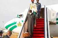 President Muhammadu Buhari arrived the country on Thursday, April 15, 2021