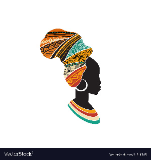 African Woman Silhoutte image