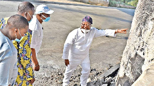 File photo: Some officials inspecting the bridge