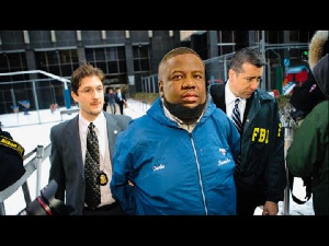 Image of Hushpuppi's arrest by the FBI