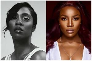 Tiwa Savage and Seyi Shay had a run-in at a salon in Lagos