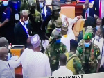 GHANA: Armed military personnel storm Chamber of Parliament amidst chaos over secret voting