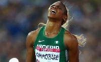Nigerian sprinter Blessing Okagbare'