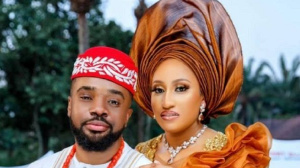 Nollywood actor, Williams Uchemba and his wife