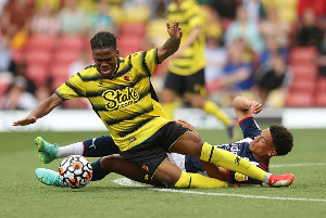Watford's Nigerian youngster, Dapo Mebude will be sidelined for weeks