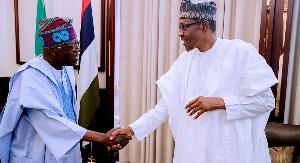 Bola Tinubu (Left) and President Buhari (R)