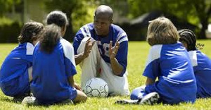 A good coach communicates with his team