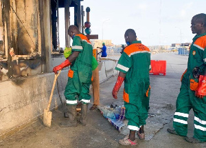 Clean-up exercise at the Lekki tollgate