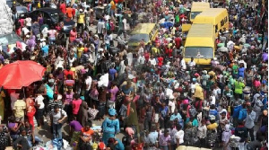 File photo of a Nigerian crowd