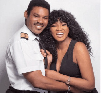 Omotola Jalade Ekeinde and husband, Captain Matthew Ekeinde