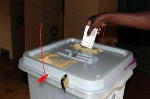 File photo: An electorate voting