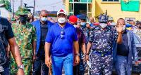 Imo state governor, Hope Uzodinma with entourage