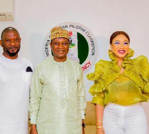 Tonto Dikeh with representatives of the NCPC