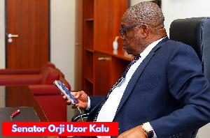 Former Governor of Abia State and Chief Whip of the Senate, Dr. Orji Uzor Kalu