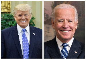 Photo: Donald Trump and Joe Biden via Wikipedia