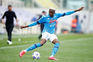 Nigerian striker, Victor Osimhen scored four for Napoli