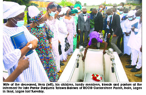 Pastor Danjuma passed on in Lagos last month