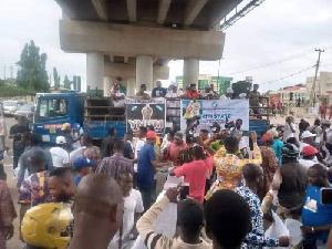 Yoruba Nation Protesters at Ekiti State