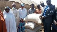 Food items donated by the Ministry included millets, rice and maize