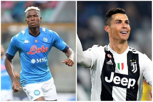 Napoli striker Victor Osimhen will hope to dent Cristiano Ronaldo's title hopes