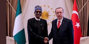 President Muhammadu Buhari with Turkish President, Recep Tayyip Erdogan