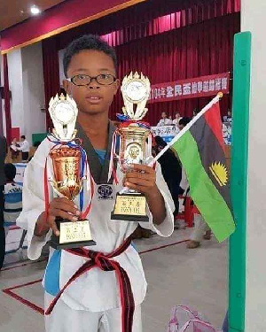 Nigerian Taekwondo winner