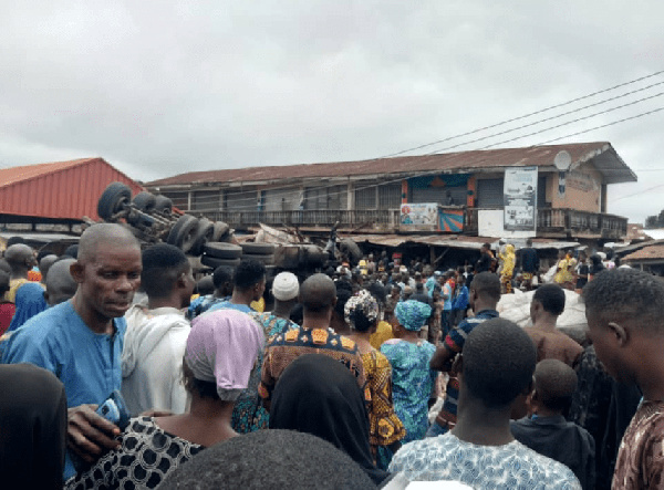 Fatal accident at Bode Market at Molete Area of Ibadan