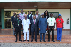 Executives of the media meet officials of the Nigerian High Commission