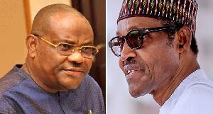 The President, Major General Muhammadu Buhari (retd.) and Rivers State Governor, Nyesom Wike