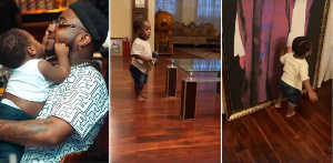 Davido plays with his son Ifeanyi
