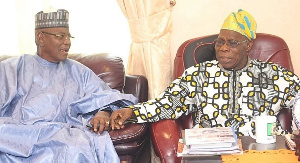 Former governor of Jigawa State, Sule Lamido and former President, Olusegun Obasanjo (Punch)