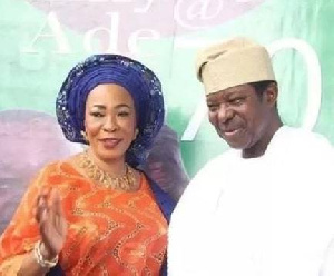 King Sunny Ade and his late wife Risikat Adejoke