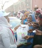 PHOTOS: Kano residents scramble for Tinubu-branded rice
